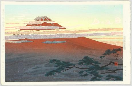 日下賢二: Mt Fuji Seen from Numazu - Japanese Art Open Database