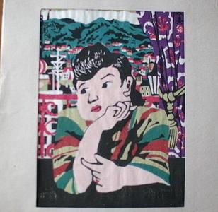 川西英: Harbour Woman — 港の女 - Japanese Art Open Database