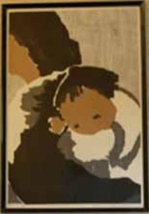河野薫: Mothers Love- Mother and Child - Japanese Art Open Database
