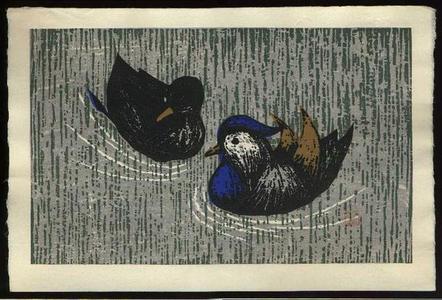 河野薫: Quiet Couple- oban - Japanese Art Open Database
