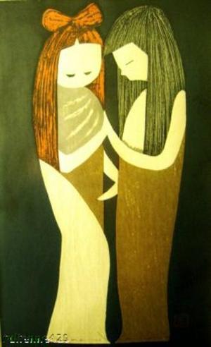 河野薫: TWO GIRLS, Friends, Couple (8) - Japanese Art Open Database