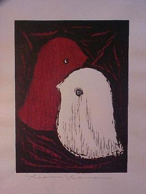 河野薫: Unknown, Love birds - Japanese Art Open Database