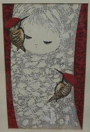河野薫: Woodpecker B- oban - Japanese Art Open Database