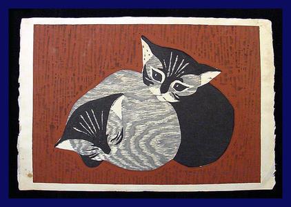 河野薫: two kittens - Japanese Art Open Database