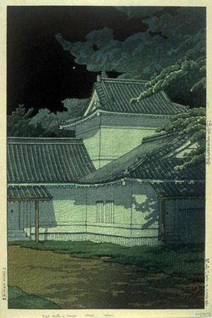 川瀬巴水: Aoba Castle in Sendai - Japanese Art Open Database