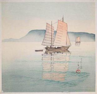 川瀬巴水: Morning at Takamatsu - Japanese Art Open Database