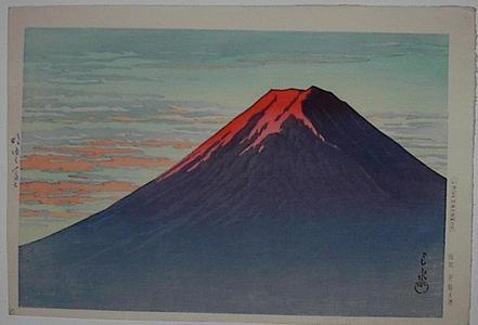 川瀬巴水: Akeyuku Fuji- Dawn at Mt Fuji - Japanese Art Open Database