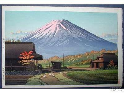 川瀬巴水: Autumn in Funatsu - Japanese Art Open Database