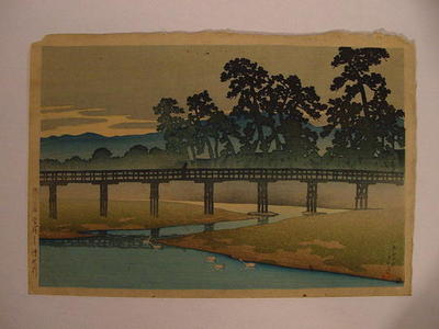 川瀬巴水: Bridge - Japanese Art Open Database