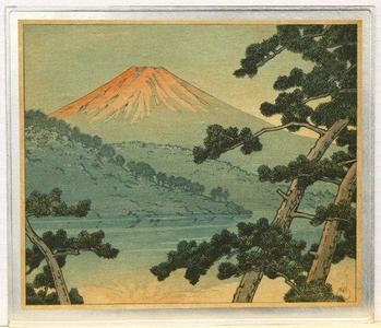 Kawase Hasui: Dawn over Lake Shoji - Japanese Art Open Database
