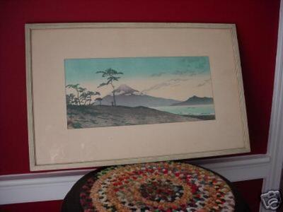 Kawase Hasui: Evening at Miho — Miho no Yu - Japanese Art Open Database
