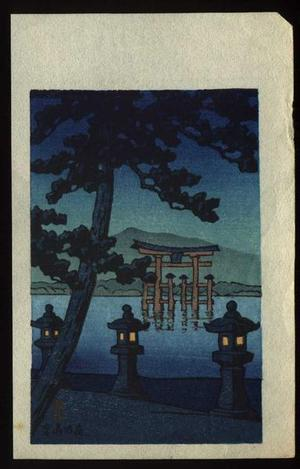 Kawase Hasui: Evening at Miyajima - Japanese Art Open Database