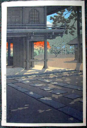 川瀬巴水: Heirinji Temple at Nobidome, Tokyo - Japanese Art Open Database
