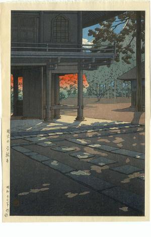 川瀬巴水: Heirinji Temple at Nobidome, Tokyo - Japanese Art Open Database