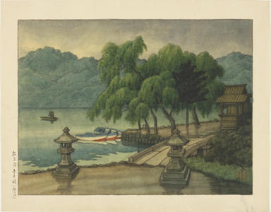 Kawase Hasui: Lake Matsubara - watercolour - Japanese Art Open Database