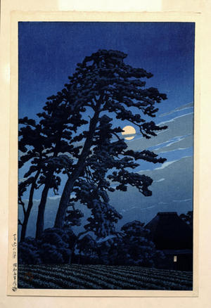 Kawase Hasui: Moon At Magome — 馬込の月 - Japanese Art Open Database