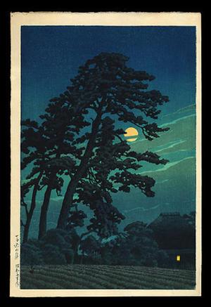 川瀬巴水: Moon At Magome — 馬込の月 - Japanese Art Open Database
