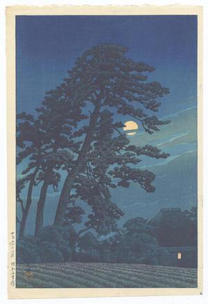 Kawase Hasui: Moon At Magome — 馬込の月 - Japanese Art Open Database