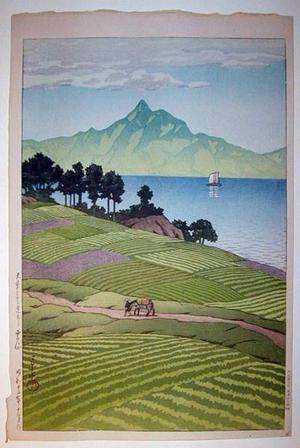 川瀬巴水: Mount Unsen From Amakusa - Japanese Art Open Database