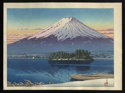 Kawase Hasui: Mt Fuji reflected in Lake Kawaguchi - Japanese Art Open Database