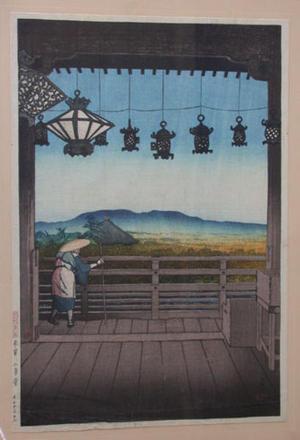 川瀬巴水: Nigatsudo Temple, Nara - Japanese Art Open Database