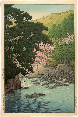 川瀬巴水: Spring In Yugashima, Izu - Japanese Art Open Database
