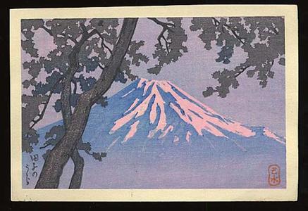 川瀬巴水: Tagonoura- Lake Tago - Japanese Art Open Database