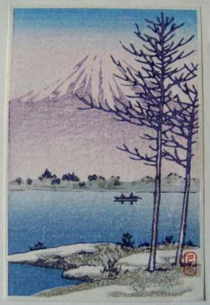 川瀬巴水: Unknown- Fuji and Lake - Japanese Art Open Database