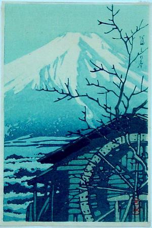 Kawase Hasui: Winter Fuji- V1 — 富士の冬 - Japanese Art Open Database