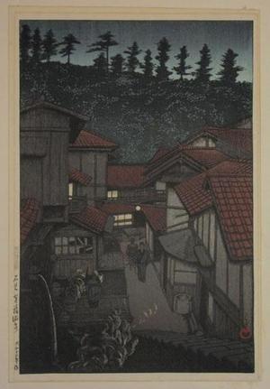 川瀬巴水: Yukufu Hot Springs - Japanese Art Open Database