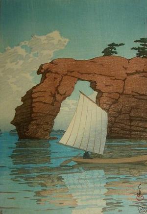 川瀬巴水: Zaimoku Island in Matsushima - Japanese Art Open Database