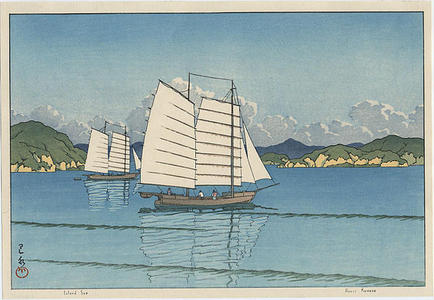 川瀬巴水: Inland Sea - Japanese Art Open Database