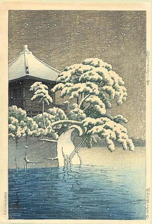 川瀬巴水: Snow in the province of Matsushima - Japanese Art Open Database