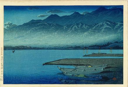 Kawase Hasui: Kamigamo Under Moonlight, Sado Island - Japanese Art Open Database
