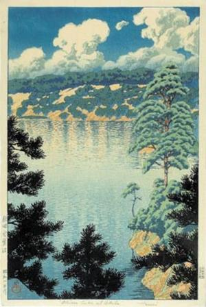 川瀬巴水: Akita - Karasunuma Swamp - Japanese Art Open Database
