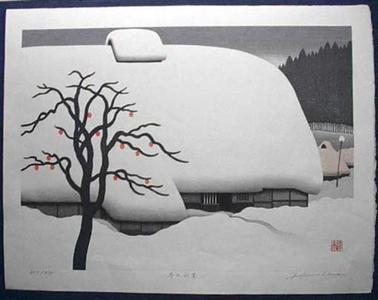 Kawashima Tatsuo: Winter in Yamazato — Fuyu no Yamazato - Japanese Art Open Database