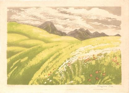 Oda Kazuma: Mt Tateshina in the Tatsugatake Range- Shinshu - Japanese Art Open Database