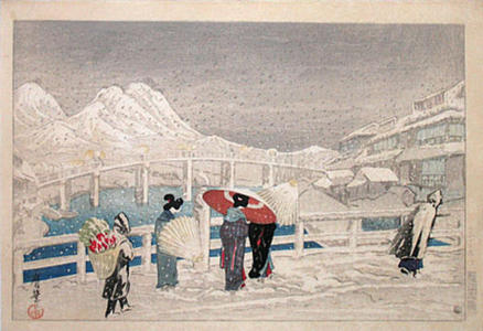 Oda Kazuma: The Great Bridge at Matsue - Japanese Art Open Database