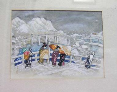 Oda Kazuma: The Great Bridge at Matsue - Japanese Art Open Database