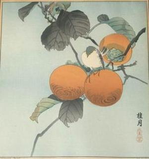 Keigetsu: Unknown birds and fruit - Japanese Art Open Database