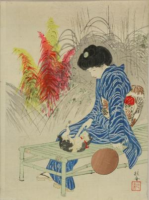 武内桂舟: A frontispiece of a novel, 1912 - Japanese Art Open Database