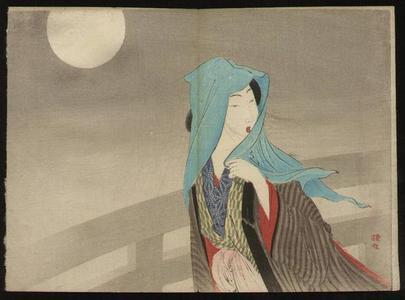 武内桂舟: Beauty in Moonlight — Gekka no Bijin - Japanese Art Open Database