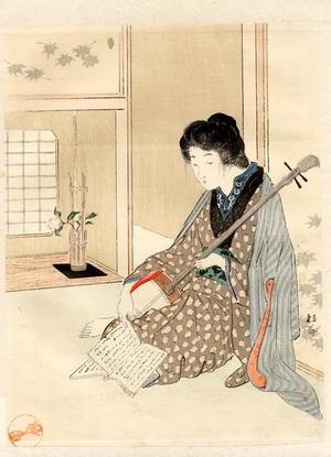 Takeuchi Keishu: Bijin and Shamisen - Japanese Art Open Database