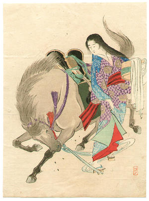 武内桂舟: Horse Stopper - Japanese Art Open Database