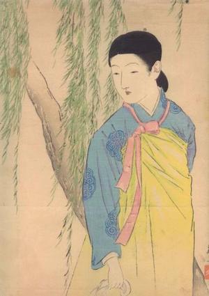 武内桂舟: Korean beauty — 韓国の美人 - Japanese Art Open Database