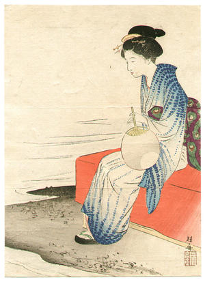 Takeuchi Keishu: On the Shore - Japanese Art Open Database