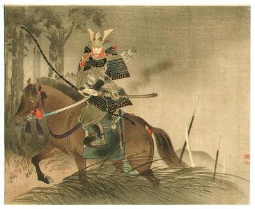 武内桂舟: Samurai on Horse - Japanese Art Open Database