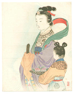 武内桂舟: Seiobo - Queen of the West - Japanese Art Open Database