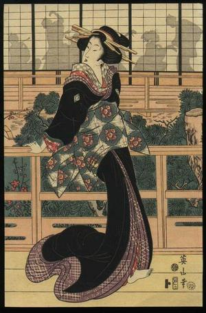 Kikugawa Eizan: Nikai Zashiki no Zu- repro - Japanese Art Open Database