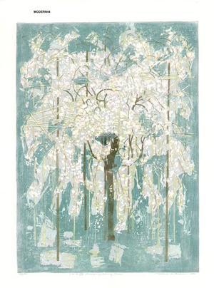 Kitaoka Fumio: Drooping Cherry - Japanese Art Open Database